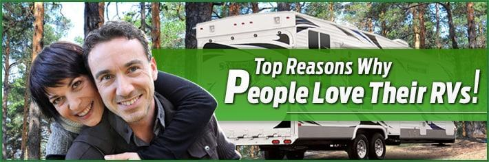 list of reasons why people go rv-ing
